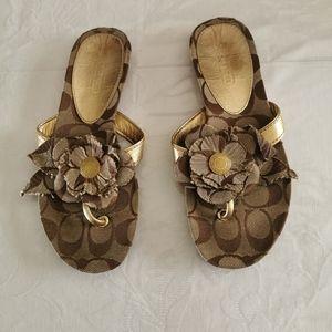 Coach Patricia Logo Thong Flip Flop Sandals Size 5